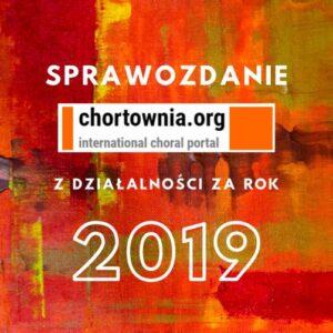 Sprawozdanie Fundacji Chórtownia za 2019 rok