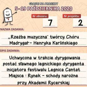 Zagłosuj na rzeźbę Henryka Karlińskiego!
