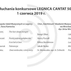 Legnica Cantat 50 – przesłuchania: 1 czerwca 2019 (Część I)