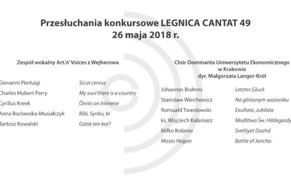 Legnica Cantat 49 – przesłuchania: 26 maja 2018 (część IV)