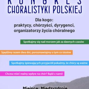 Plan sesji i debat online II Kongresu Chóralistyki Polskiej
