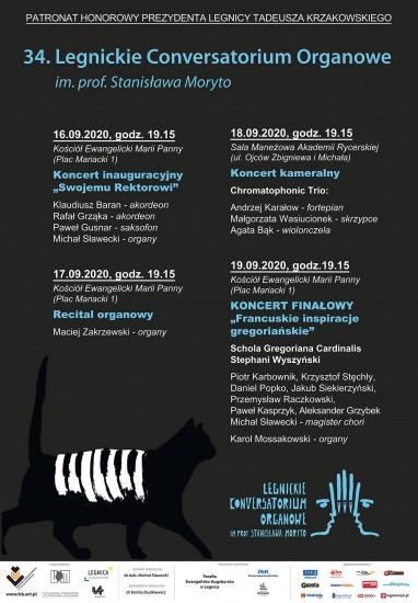 34. Legnickie Conversatorium Organowe – program