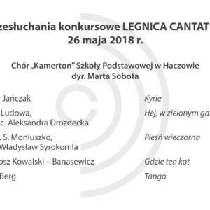 Legnica Cantat 49 – przesłuchania: 26 maja 2018 (część I) (AUDIO)
